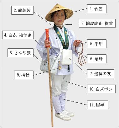 お遍路用品【巡拝18品セット】-...